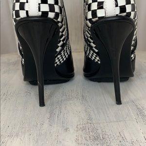 GX by Gwen Stefani Shoes - Gwen Stefani GX Peep Toe Checkered Booties